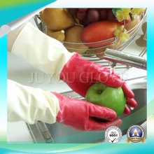 Cleaning Work Anti Acid Latex Gloves with ISO9001 Approved