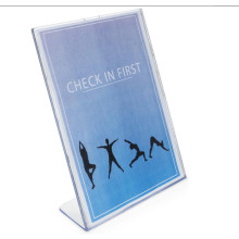 Slanted Clear Vertical Acrylic Sign Holder