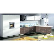 Panneau en MDF en bois moulé en acrylique moderne et meuble de cuisine