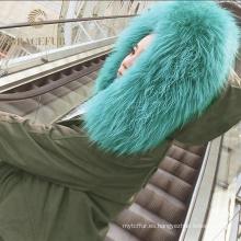 Abrigo de piel real de diferentes tamaños para mujer