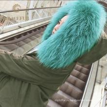 Разных размеров натуральный мех пальто для женщин