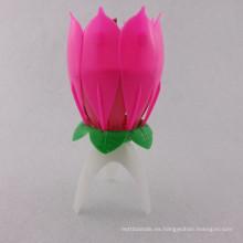 Vela de cumpleaños de la flor / uso del partido