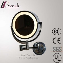 Highly Waterproof Chrome Washroom Mirror Round Wall Lamp