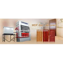 Multi-layer hot press machine for moulded door skin