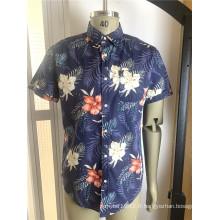 Chemises en coton à manches courtes pour hommes de haute qualité