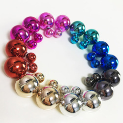 Double Pearl Stud Earrings Two Sided Stud Earrings for Women Jewelry