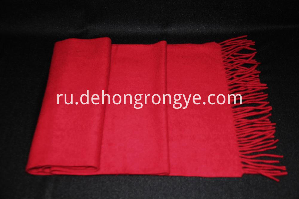Big Red Cashmere Scarf