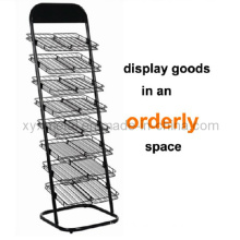Commercial Advertisement Metal Wire Newspaper Display Stand Rack