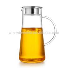 Perfectionnez grand fabricant fait à la main de thé glacé de verre de Borosilicate