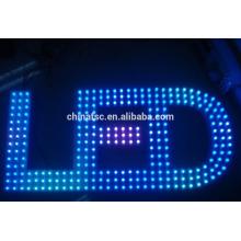 Backlit acrylic base polished metal stainless steel LED illuminated sign letters