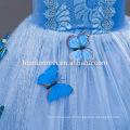 2016 nouvelle mode Lumière bleu couleur film cosplay enfant princesse robe en gros