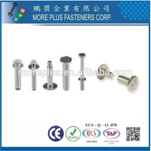 Taiwan Stainless Steel Construction Fastener Male Female Screw Fasteners Big Head Screws