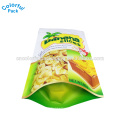 100g 250g 500g food grade pouch aluminum foil bags snack packaging stand up bag for coconut