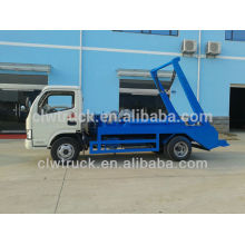 Dongfeng 4m3 hydraulic arm garbage truck,4x2 garbage truck for sale