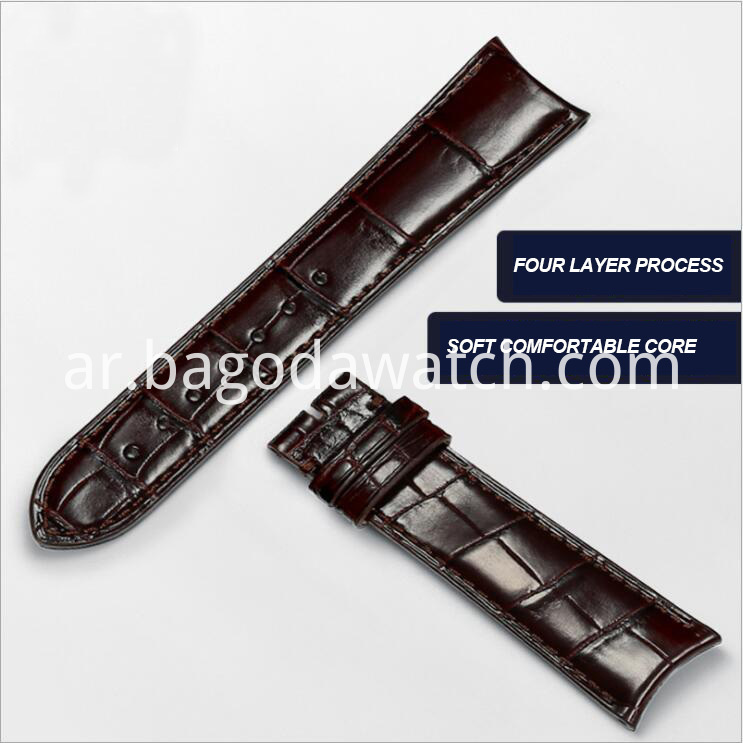 Genuine Crocodile Leather Watch Band