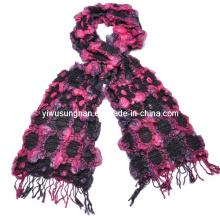 2014 de moda de dos tonos burbuja volante bufanda invierno cálido (SNSZQ1011-5)