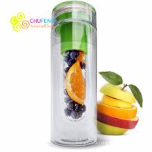 Tritan Esporte Garrafa De Água De Plástico Nova Fruta Garrafa De Água De Infusão BPA Livre 750 ML
