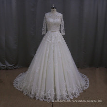 Beaded lace fitted new collection a line bridal gown