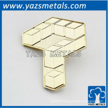 custom high quality key shape pins, logo pins