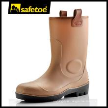Bota de goma, bota de goma de aço toe, bota de goma de segurança W-6002B