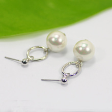 Elegant White Pearl Drop Earrings