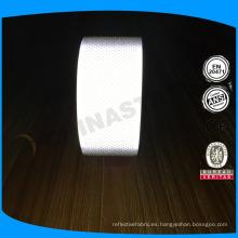 Venta directa de la fábrica 2 '' cinta perforada reflexiva de la cinta reflexiva de la plata