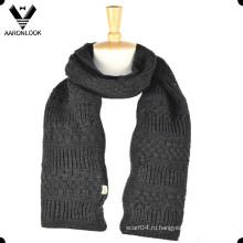 Зимние мужские толстые шарфы для вязания