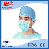 Hubei green disposable 3 ply earloop non woven surgical face mask/ Green disposable 3 ply earloop non woven medical face mask