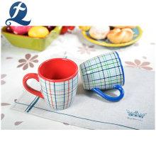 Tazas de café de cerámica coloridas impresas de encargo de la taza de té con mejores ventas
