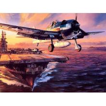 Pintura de la lona del avión de combate del portador de la decoración de la pared