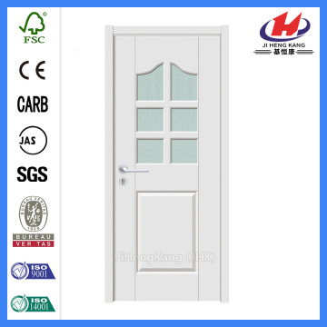 *JHK-G30 Office Building Door Interior French Doors With Frosted Glass Interior White Wood Doors