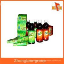 customizable PVC/PET water proof heat sensitive shrink wrapper for plastic bottles