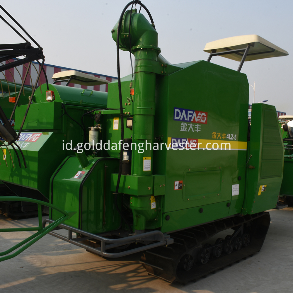 crawler type full-feeding rice harvester