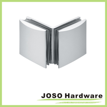 90 grados de vidrio a vidrio curvado clip de latón de cristal (BC402-90)
