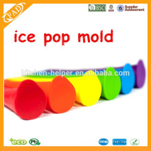 Moldes promocionais do Popsicle do silicone do agregado familiar / moldes do Popsicle do silicone / moldes promocionais do Popsicle do silicone do agregado familiar