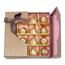 Caixa de Chocolate Criativa com Janela de Plástico e Bandeja de Inserção