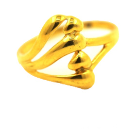 18 K anel amarelo ouro
