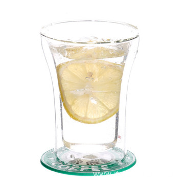 Heat Resistant Borosilicate Double Wall Glass Cup