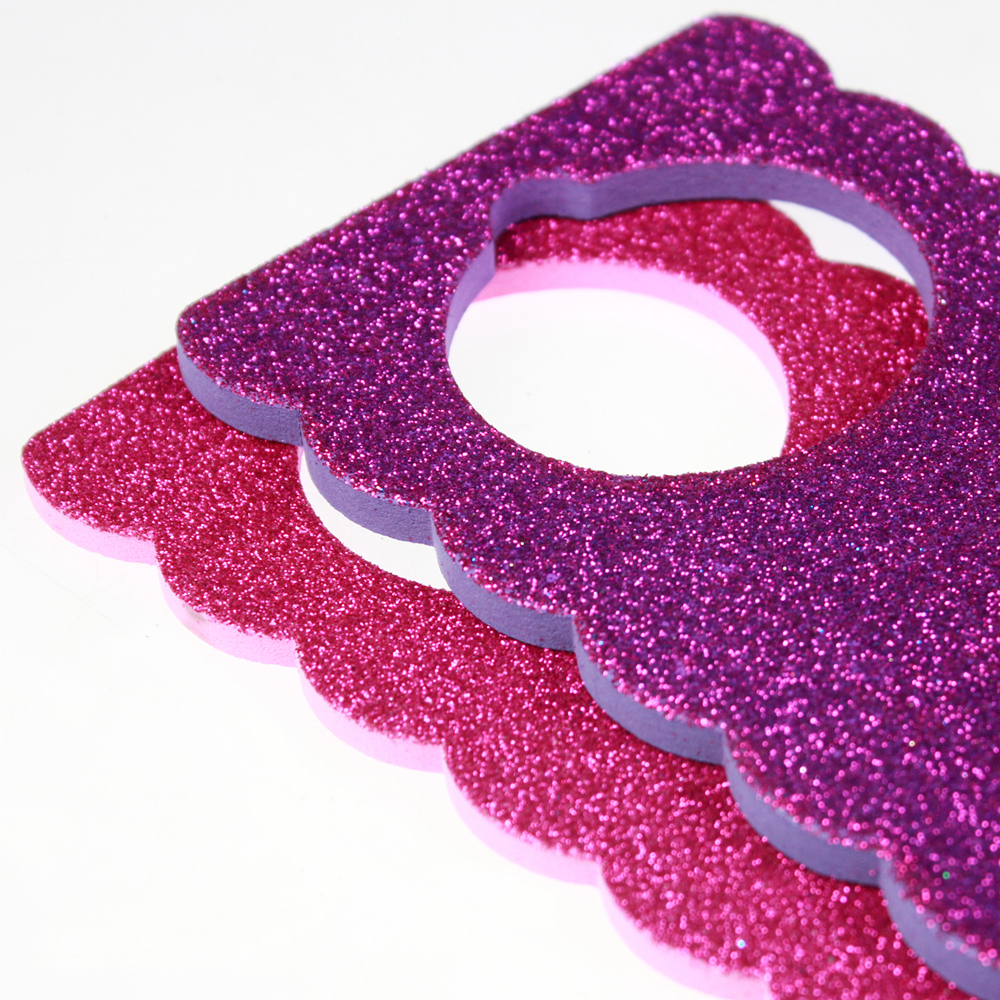 Door hang EVA shape with glitter