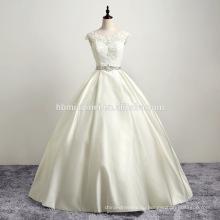 В наличии новый дизайн свадебное платье длиной до пола из бисера атласная кружевной бальное платье вечернее длинное платье