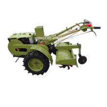 2017 tractor de marcha de arranque eléctrico con arado y timón y cortadora de césped y remolque