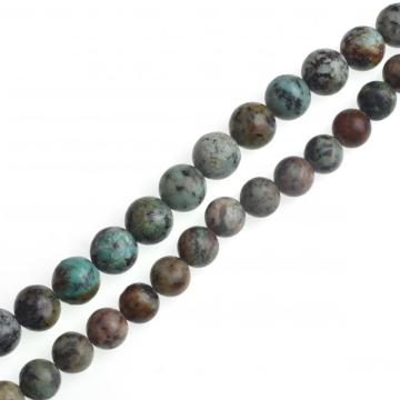 Loose 8MM Afrian Turquoise Round Beads 16""
