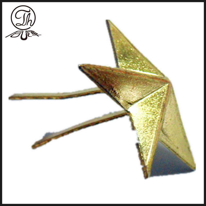 3d Gold star badge clips metal