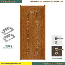 Porte en bois pure en bois de forces de défense principale de porte de PVC de porte en bois