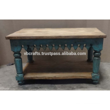 Craved Antique Finish Coffee Table