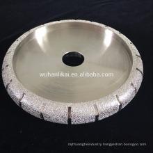 Vacuum brazed bullnose grinding wheel wheel