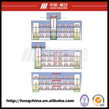 Garaje estéreo automatizado de alto rendimiento y elevador de estacionamiento
