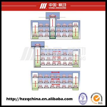 Garaje comercial estéreo, sistema automatizado de aparcamiento y elevador Paking