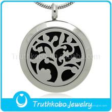 316 jóias de aço inoxidável difusor de aromaterapia para perfume óleo essencial medalhão colar