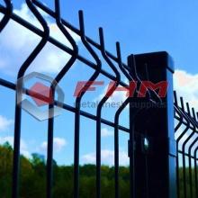 Valla de malla de alambre de ferrocarril 3D recubierto de PVC